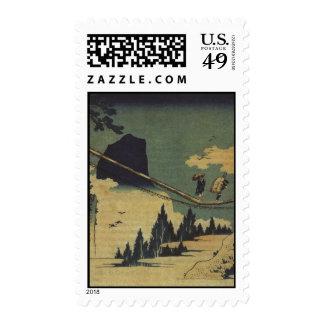 Hokusai Art painting Landscape Postage Stamp