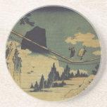 Hokusai Art painting Landscape Sandstone Coaster