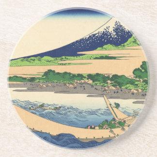 Hokusai Art painting Mountains Beverage Coasters