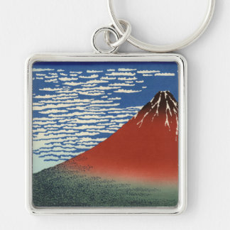 Hokusai Art painting Mountains Keychains
