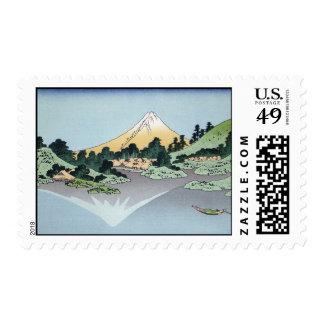 Hokusai Art painting Mountains Postage Stamps