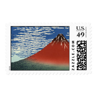 Hokusai Art painting Mountains Stamps