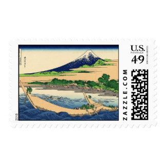 Hokusai Art painting Mountains Postage