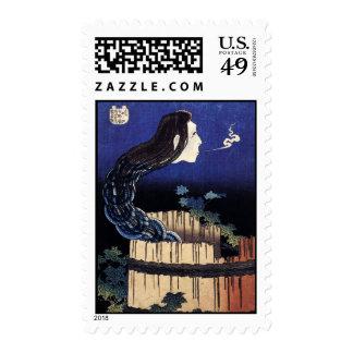 Hokusai Art painting Postage Stamp