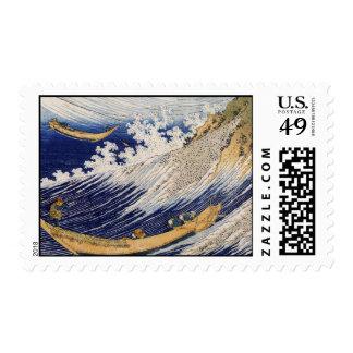 Hokusai Art painting Postage