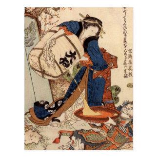 Hokusai Art painting Postcard