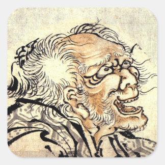 Hokusai Art painting Square Sticker
