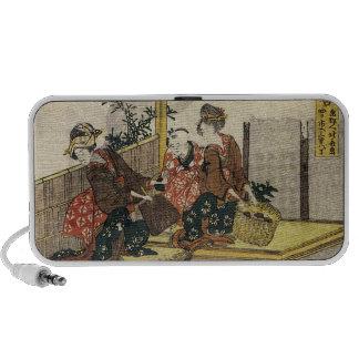 Hokusai - Baking Clams Art Mini Speaker