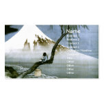 Hokusai Boy and Mt.Fuji Vintage Japanese Double-Sided Standard Business Cards (Pack Of 100)