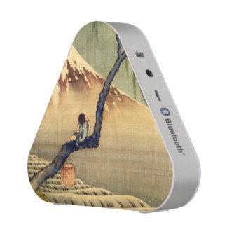 Hokusai Boy Viewing Mount Fuji Japanese Vintage Bluetooth Speaker