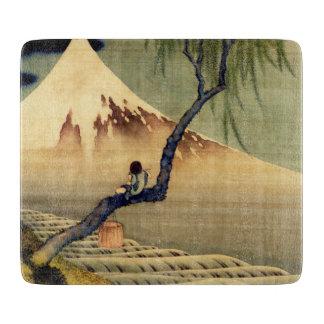 Hokusai Boy Viewing Mount Fuji Japanese Vintage Cutting Board