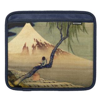 Hokusai Boy Viewing Mount Fuji Japanese Vintage Sleeve For iPads