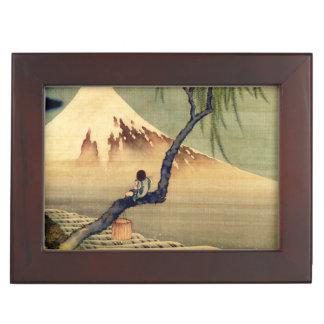 Hokusai Boy Viewing Mount Fuji Japanese Vintage Keepsake Box