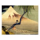 Hokusai Boy Viewing Mount Fuji Japanese Vintage Photo Print