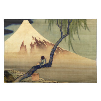 Hokusai Boy Viewing Mount Fuji Japanese Vintage Placemat