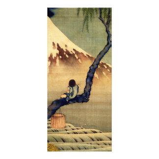 Hokusai Boy Viewing Mount Fuji Japanese Vintage Rack Card