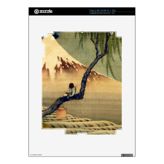 Hokusai Boy Viewing Mount Fuji Japanese Vintage Decals For The iPad 2