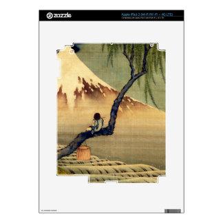 Hokusai Boy Viewing Mount Fuji Japanese Vintage iPad 3 Decals