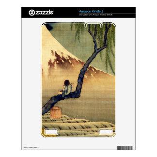 Hokusai Boy Viewing Mount Fuji Japanese Vintage Kindle 2 Decal