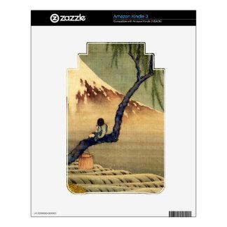 Hokusai Boy Viewing Mount Fuji Japanese Vintage Skin For Kindle 3