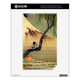 Hokusai Boy Viewing Mount Fuji Japanese Vintage Decal For NOOK Color