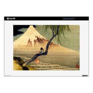 Hokusai Boy Viewing Mount Fuji Japanese Vintage Decal For Laptop