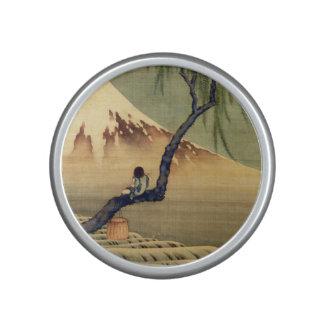 Hokusai Boy Viewing Mount Fuji Japanese Vintage Speaker