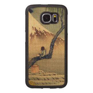 Hokusai Boy Viewing Mount Fuji Japanese Vintage Wood Phone Case