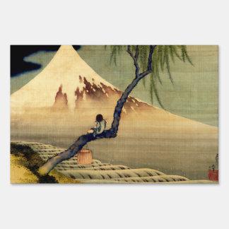 Hokusai Boy Viewing Mount Fuji Japanese Vintage Signs