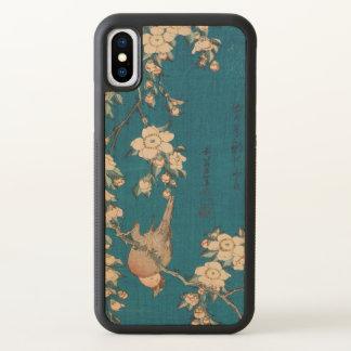 Hokusai Bullfinch and Weeping Cherry GalleryHD Art iPhone X Case