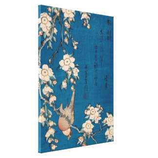 Hokusai Bullfinch and Weeping Cherry GalleryHD Canvas Print