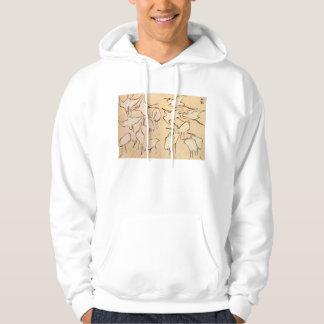 Hokusai Cranes Hoodie
