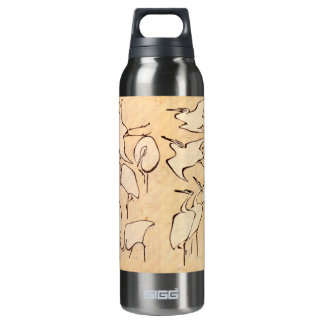 Hokusai Cranes Insulated Water Bottle