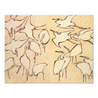 Hokusai Cranes Invitations