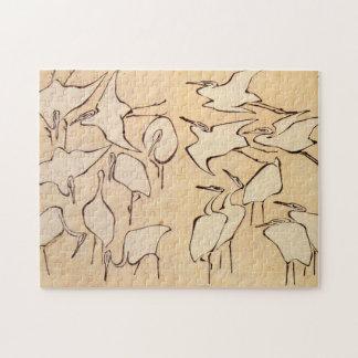 Hokusai Cranes Jigsaw Puzzle