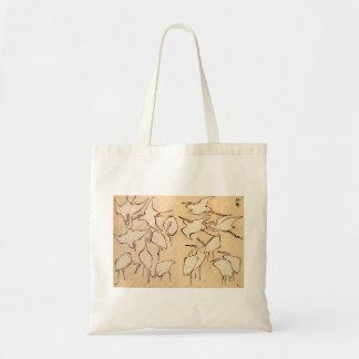 Hokusai Cranes la bolsa de asas
