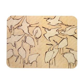 Hokusai Cranes Magnet