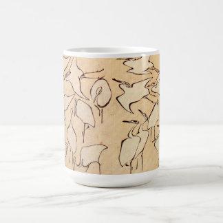 Hokusai Cranes Mug