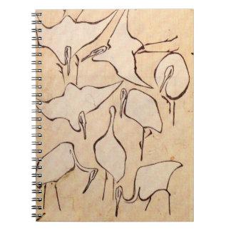 Hokusai Cranes Notebook