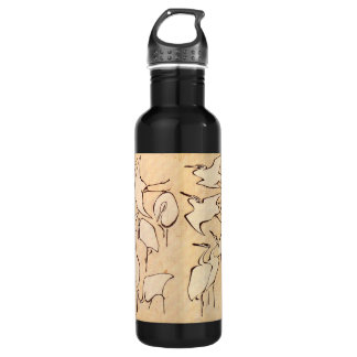 Hokusai Cranes Stainless Steel Water Bottle