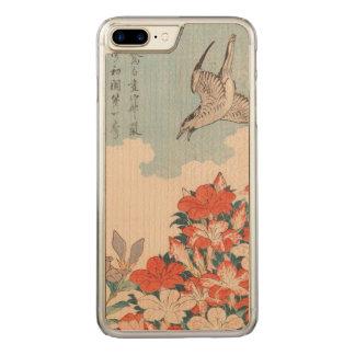 Hokusai Cuckoo and Azaleas Vintage Art GalleryHD Carved iPhone 8 Plus/7 Plus Case