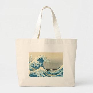 Hokusai - debajo de la onda de Kanagawa Bolsa