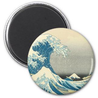 Hokusai - debajo de la onda de Kanagawa Iman De Nevera