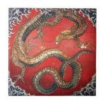 Hokusai Dragon Ceramic Tiles