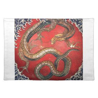 Hokusai Dragon Cloth Placemat