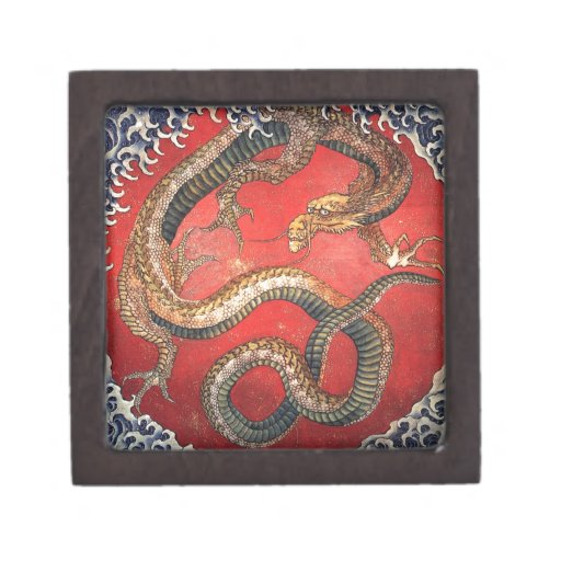Hokusai Dragon Premium Keepsake Box