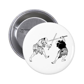 Hokusai duelers 2 inch round button