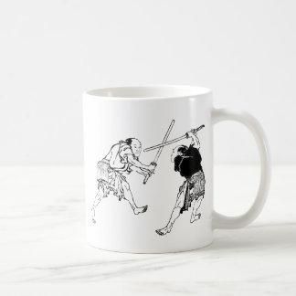 Hokusai duelers mug