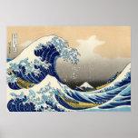 Hokusai el gran poster de la onda