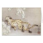 Hokusai - el tigre del invierno